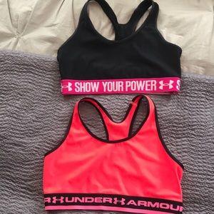 Two under Armour sports bras medium
